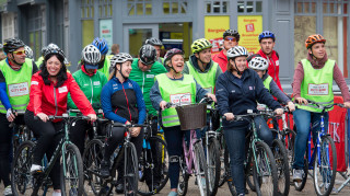 British Cycling chief executive and Paralympic gold medallist Helen Scott at HSBC UK City Ride in Coventry