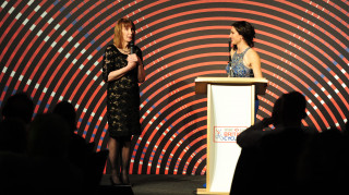 Philippa York at the British Cycling Awards dineer 2018
