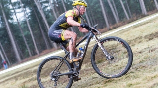 Alice Barnes starts round two of the British Cycling MTB Cross-Country Series.