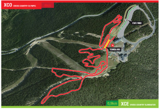 2015 UCI Mountain Bike World Championships - Cross-country course map
