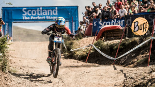 Danny Hart took third as South African Greg Minnaar won ahead of defending world cup champion Aaron Gwin.
