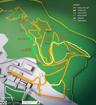 2016 UCI Mountain Bike World Championships - team relay course
