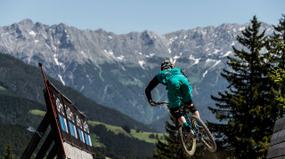 Bernard Kerr finished fifth at the UCI MTB World Cup in Leogang