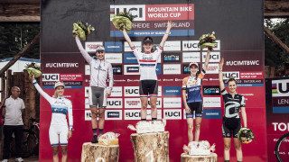 Annie Last wins the Lenzerheide round of the 2017 UCI Mountain Bike World Cup