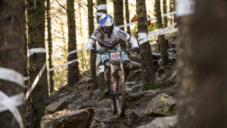 Rachel Atherton in the HSBC UK | National Downhill Series