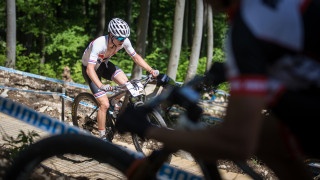 Frazer Clacherty riding at the recent Mercedes Benz UCI Mountain Bike World Cup.