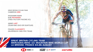 Great Britain Cycling Team for the 2018 Mercedes Benz UCI Mountain Bike World Cup in La Bresse, France.