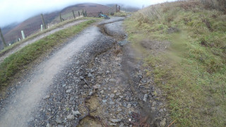 Bridleway erosion caused by flooding