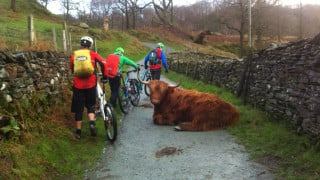 Riders on an MTB Leadership course