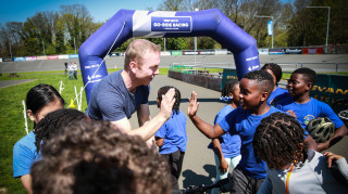 Sir Chris Hoy leads a British Cycling HSBC UK Go-Ride session at Herne Hill Velodrome with Evans Cycles