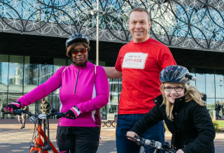 Sir Chris Hoy at a HSBC UK City Ride event in 2017