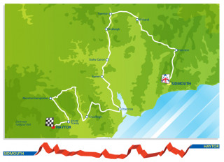 2013 Tour of Britain route stage six