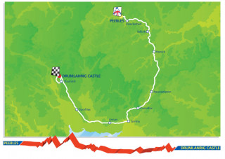 2013 Tour of Britain route stage one
