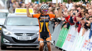 Lizzie Armitstead winning the 2014 National Road Championships in Glasgow