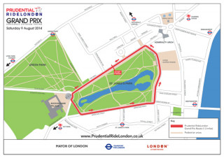 RideLondon Grand Prix map