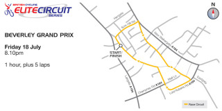 British Cycling Elite Circuit Series - Beverley Grand Prix - Course Map - please click to view full size map