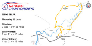 014 British Cycling National Time-Trial Championships course map