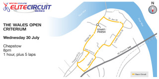 British Cycling Elite Circuit Series - Wales Open Criterium - Course Map - please click to view full size map