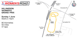 Hillingdon Grand Prix map