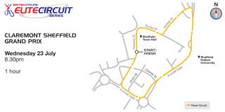 British Cycling Elite Circuit Series - Sheffield Grand Prix - Course Map - please click to see full-size map
