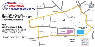 Hull to host 2014 British Cycling National Circuit Race Championships.