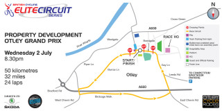 Course map - British Cycling Elite Circuit Series - Otley GP - Click to enlarge