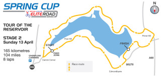 2014 Tour of the Reservoir Stage 2 Map
