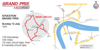 2014 Stockton Grand Prix course map - please click to enlarge
