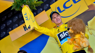Chris Froome in the yellow jersey at the Tour de France