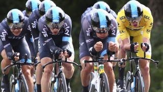 Chris Froome remained in the yellow jersey heading into the first rest day as Team Sky finished behind stage winners BMC Racing by just one second in the team time trial.