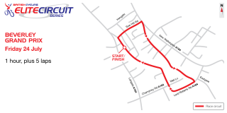 2015 British Cycling Elite Circuit Series - Beverley Grand Prix - Course Map