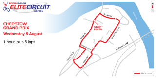2015 British Cycling Elite Circuit Series - Chepstow Grand Prix course map