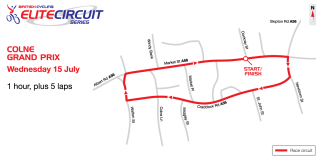 2015 British Cycling Elite Circuit Series - Colne Grand Prix course map