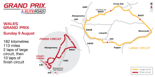 The course for the 2015 Grand Prix of Wales in the British Cycling Elite Road Series.