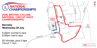 2015 British Cycling National Circuit Race Championships course map
