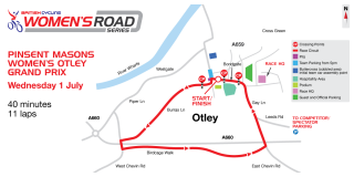 The course for the Pinsent Mason Women's Otley Grand Prix