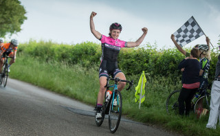 Grace Garner wins stage one at the 2016 Essex Giro