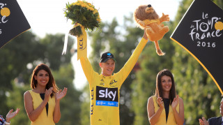 Team Sky's Chris Froome was crowned as Tour de France champion for the third time in his career as he enjoyed the final ceremonial stage finishing in Paris.