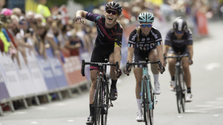 Hannah Barnes was crowned British road champion in Stockton-on-Tees