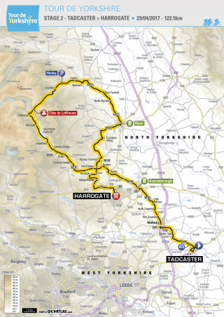 Tour de Yorkshire stage 2 - Tadcaster to Harrogate