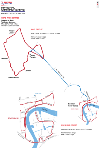 2016 British Cycling National Road Championships road race course