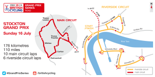 The course for the Stockton Grand Prix, part of the 2017 HSBC UK | Grand Prix Series