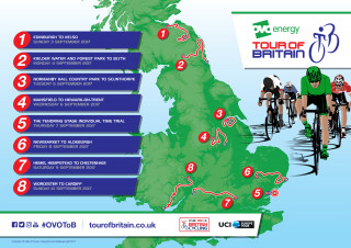 2017 Tour of Britain stages