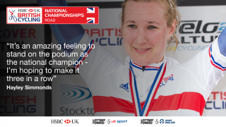Hayley Simmonds will look to complete a time trial hat-trick at the HSBC UK | National Road Championships on the Isle of Man