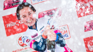 Katie Archibald celebrates winning the CiCLE Classic at the HSBC UK | National Women's Road Series