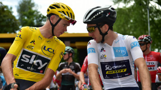 Chris Froome and Simon Yates at the 2017 Tour de France