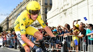2017 Tour de France yellow jersey winner Chris Froome