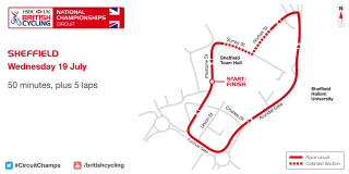 Sheffield 2017 HSBC UK | National Circuit Championships course map