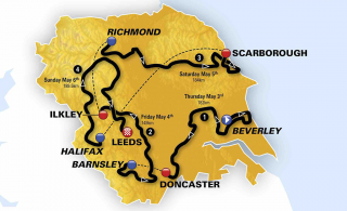 2018 Tour de Yorkshire overview map