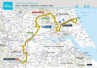 2018 Tour de Yorkshire stage one map